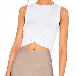 NWOT Alo Yoga Twist Crop Top Cover Tank Shirt